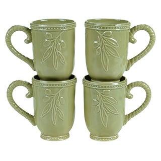 Certified International Bianca Green 18-ounce Mugs (Set of 4)