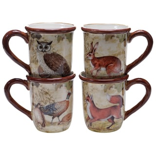 Certified International Rustic Nature 16-ounce Mugs (Set of 4) Assorted Designs