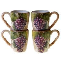 Certified International Sanctuary Wine 18-ounce Mugs (Set of 4)
