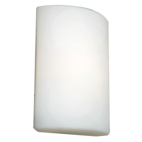 Access Lighting Oblong 1 Light White Wall Sconce