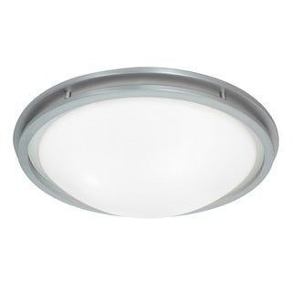 Access Lighting Aztec 2-light 14 inch Brushed Steel Flush Mount