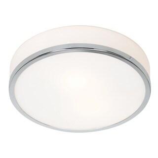 Access Lighting Aero 1-light 10 inch Chrome Flush Mount