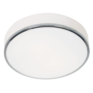 Access Lighting Aero 2-light 13 inch Chrome Flush Mount