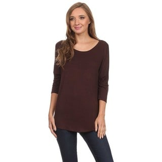 MOA Collection Solid Dolman Sleeve Top