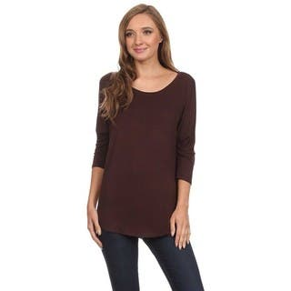 MOA Collection Solid Dolman Sleeve Top|https://ak1.ostkcdn.com/images/products/11445876/P18405237.jpg?impolicy=medium