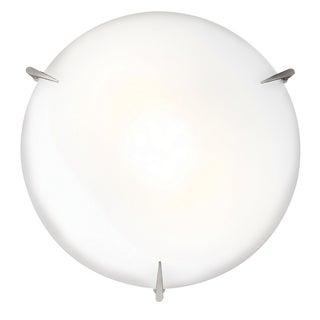 Access Lighting Zenon 2-light 12 inch Brushed Steel Flourescent Flush Mount