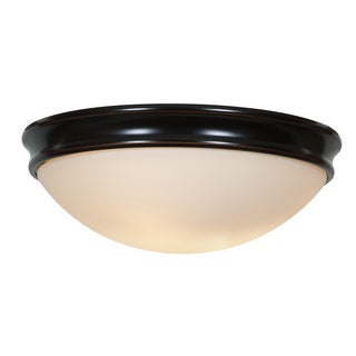 Access Lighting Atom 3-light 14 inch Oil-Rubbed Bronze Flush Mount