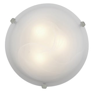 Access Lighting Mona 2-light 12 inch Brushed Steel Flush Mount