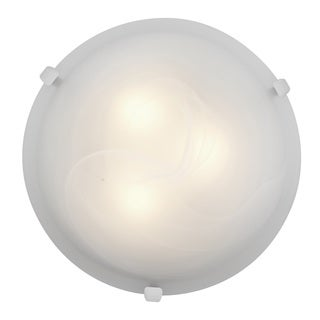 Access Lighting Mona 3-light 16 inch White Flush Mount, Alabaster