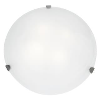 Access Lighting Mona 4-light 20 inch Brushed Steel Flush Mount