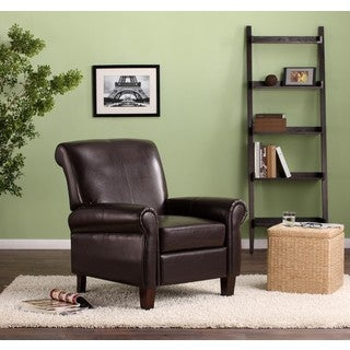 Dorel Living Brown Faux Leather Club Chair