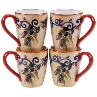 Certified International Umbria 22-ounce Mugs (Set of 4)