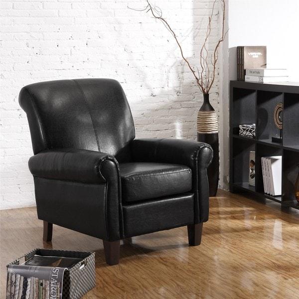Shop Dorel Living Black Faux Leather Club Chair Free