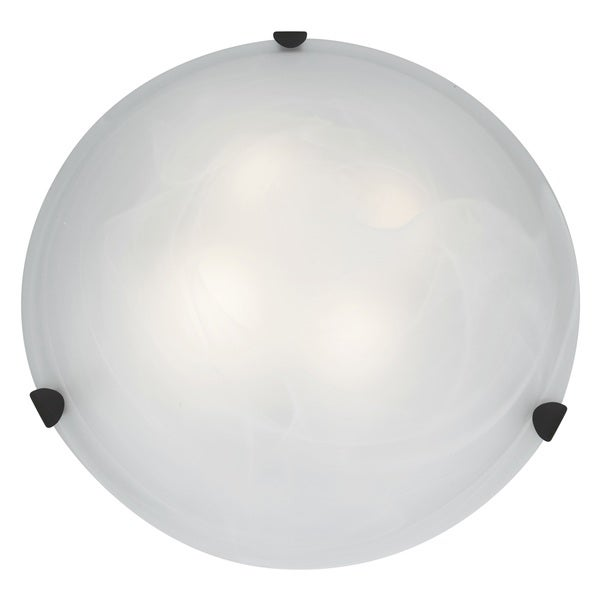 Access Lighting Mona 4-light 20 inch Rust Flush Mount