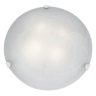 Access Lighting Mona 4-light 20 inch White Flush Mount, Alabaster