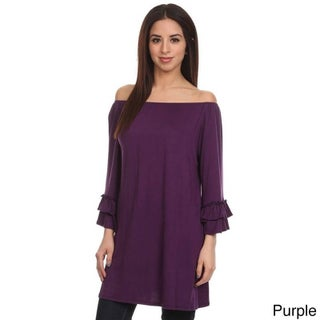 MOA Collection Women's Trumpet Sleeve Top (3 options available)