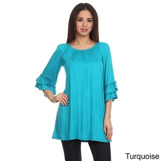 MOA Collection Women's Trumpet Sleeve Top