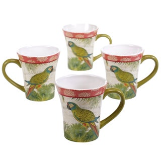 Certified International Tropics 14-ounce Mugs (Set of 4)