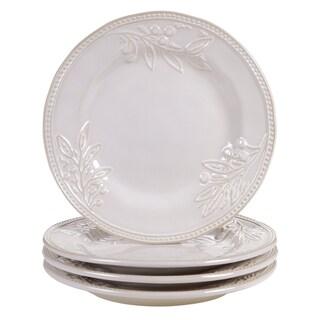 Certified International Binaca Ivory 11-inch Dinner Plates (Set of 4)