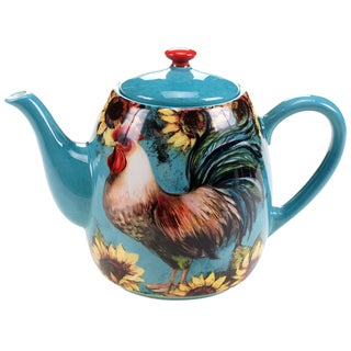 Certified International Sunflower Rooster Teapot 40-ounce
