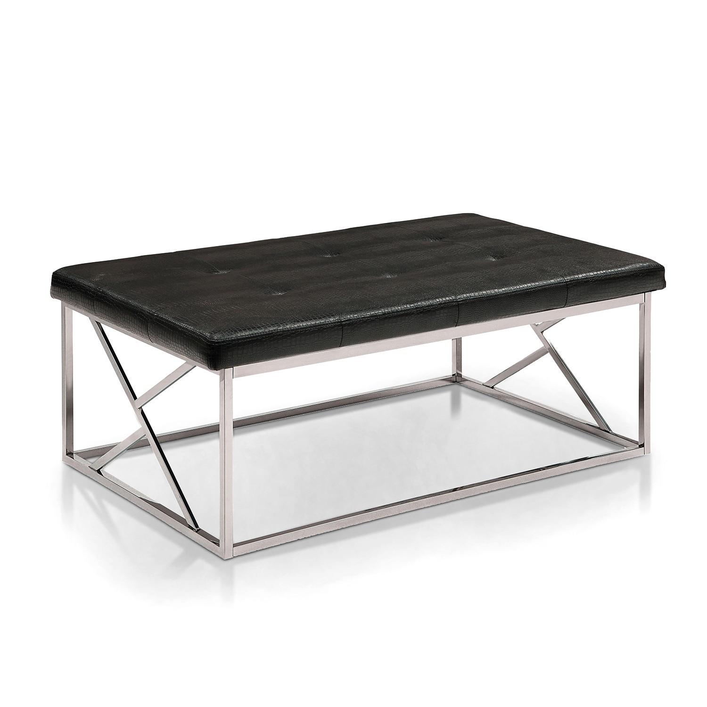 Furniture of America Nara Contemporary Tufted Leatherette...