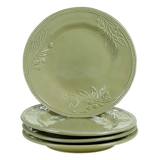 Certified International Bianca Green 11-inch Dinner Plates (Set of 4)