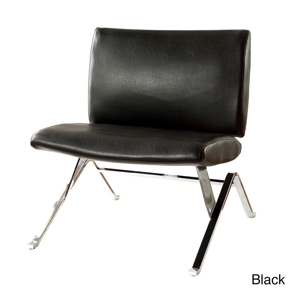 Furniture of America Kelma Contemporary Faux Leather Acce...