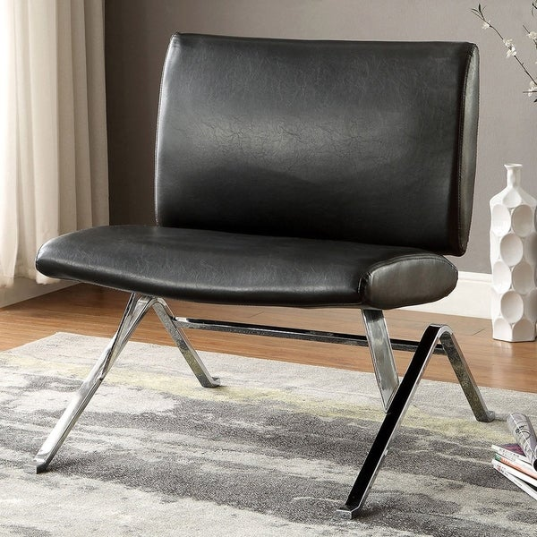 Furniture of America Jala Modern Faux Leather Upholstered Accent Chair. Opens flyout.