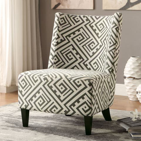 Furniture of America Kude Contemporary Black Fabric Accent Chair