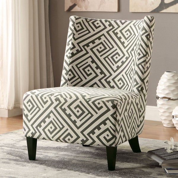 Nice Furniture Of America Kacie Contemporary Maze Patterned Accent Chair