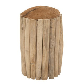 Teak Branch Round Foot Stool