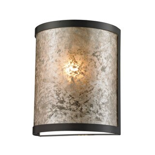 Elk Mica 1-light Wall Sconce in Oil Rubbed Bronze and Tan Mica