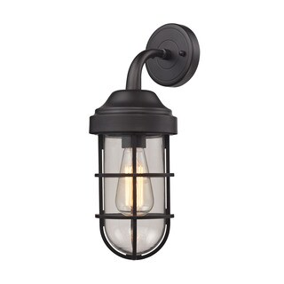 Elk Seaport 1-light Wall Sconce in Oil Rubbed Bronze and Clear Glass