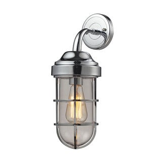 Elk Seaport 1-light Wall Sconce in Polished Chrome and Clear Glass