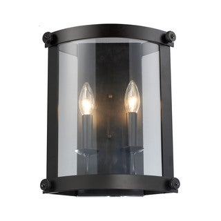 Elk Chesapeake 2-light Wall Sconce in Oiled Bronze and Clear Glass