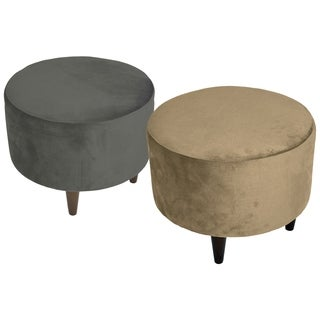 MJL Furniture Sophia Ennis Round Upholstered Ottoman
