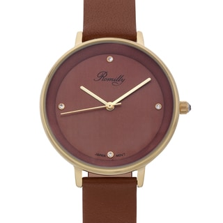 Romilly Women's Royalty Brown Genuine Leather Watch