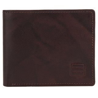 Suvelle WR98 Men's Genuine Leather RFID Blocking Slim Bifold Travel Wallet - L