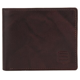 Suvelle WR98 Men's Genuine Leather RFID Blocking Slim Bifold Travel Wallet - L (2 options available)