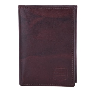 Suvelle Trifold Men's Genuine Leather RFID Wallets Slim Travel Wallet