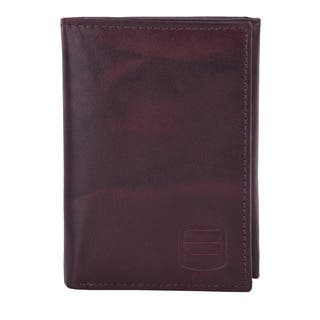 Suvelle WR91 Men's Leather RFID Blocking Slim Trifold Travel Wallet - L