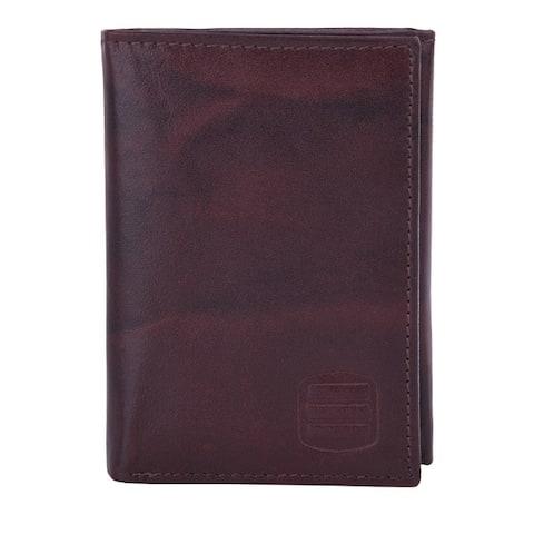 Suvelle WR91 Men's Leather RFID Blocking Slim Trifold Travel Wallet - L