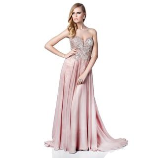Terani Couture Women's Strapless Sweetheart Pageant Gown