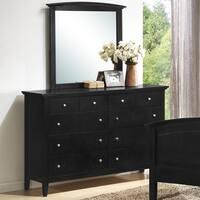LYKE Home Whitney Black Dresser and Mirror Set