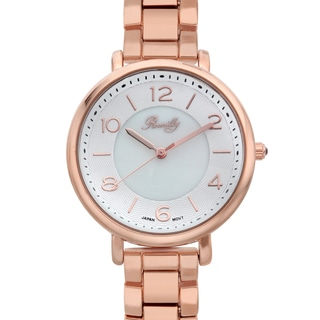 Romilly Women's Gouyen Rosetone Mother of Pearl Textured Dial Watch