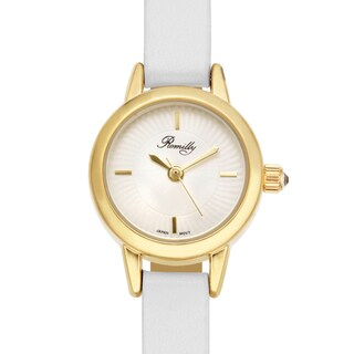 Romilly Women's Jolliet White Genuine Leather Goldtone Watch