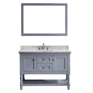 Virtu USA Julianna 48-inch Single Bathroom Vanity Cabinet Set in Grey