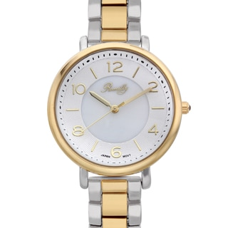 Romilly Women's Gouyen Two-tone Mother of Pearl Textured Dial Watch