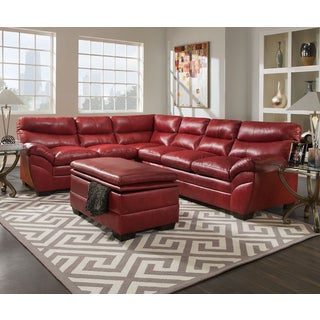 sc 1 st  Overstock.com : red leather sofa sectional - Sectionals, Sofas & Couches