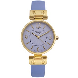 Romilly Women's Nova Purple Genuine Leather Multi-textured Dial Watch